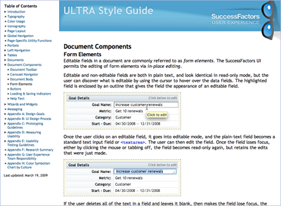 User Experience Style Guide